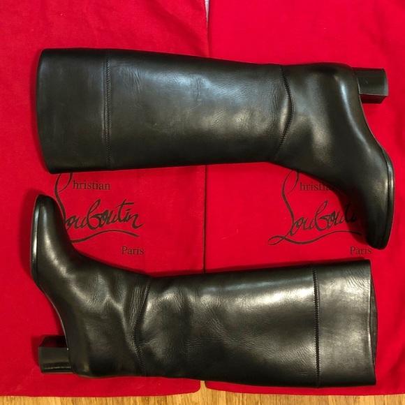 Tall Black Leather Boots 365   Poshmark